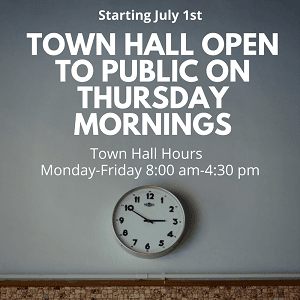 Town Hall Hours_News