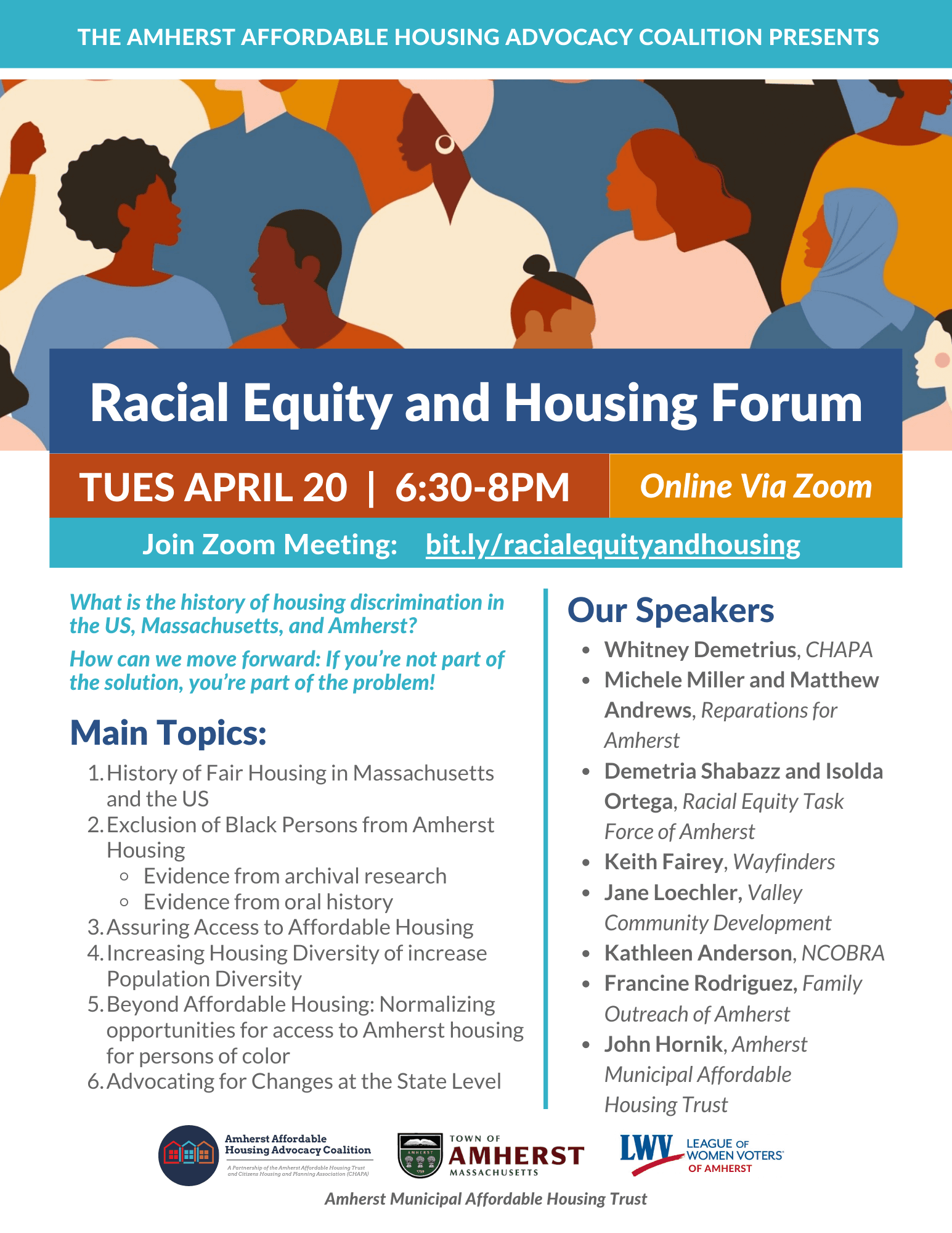 Racial Equity and Housing Forum Flyer