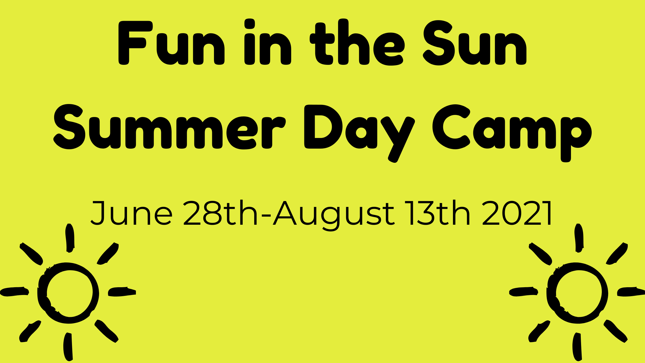 Fun in the Sun Summer Day Camp banner Opens in new window